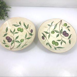 SUR LA TABLE olive branch Ceramic salad bowl